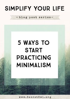 5 Ways to Start Practicing Minimalism #minimal #minimalistgigi | Minimalist GiGi // GiGi