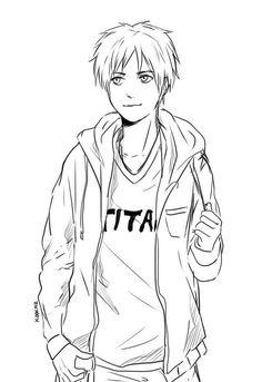 Eren looks bit chubby here, I wonder