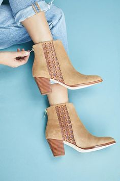Slide View: 1: Anthropologie Embroidered Booties