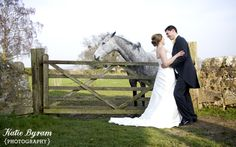 Horse wedding photograph High House Farm Brewery