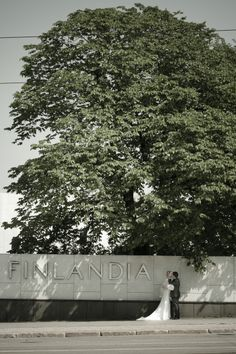 Couple next to the Finlandia house in Helsinki.  www.samiseppanen.net