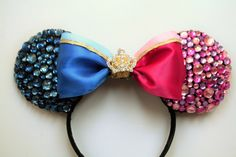 "Sleeping Beauty ""Make it pink, make it blue"" Inspired Minnie Ears by EarsAllAboutIt on Etsy https://www.etsy.com/listing/246614150/sleeping-beauty-make-it-pink-make-it"