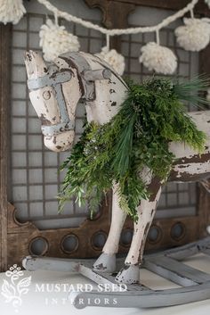 milk painted rocking horse | miss mustard seed