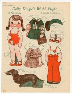 82.298: Vuelo Mundial Dolly Dingle en Alemania | muñeca de papel | Muñecas de papel | Muñecas | Colecciones Online | El Fuerte