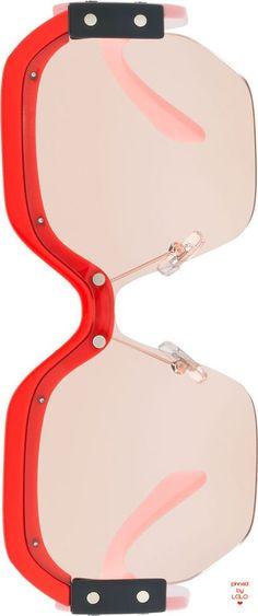 Miu Miu Sorbet Square Wrap-Around Sunglasses