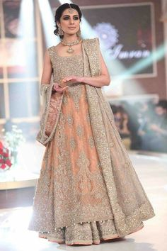 Aisha Imran Latest Bridal Wear Collection 2017 Creative or very talented fashion designer of Pakistan Aisha Imran introducing stunning bridal wear Bridal Dresses 2018, Pakistani Wedding Outfits, Pakistani Wedding Dresses, Bridal Outfits, Indian Dresses, Indian Clothes, 2017 Bridal, Desi Clothes, Punjabi Wedding