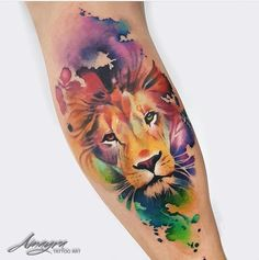 41 trendy Ideas tattoo lion sleeve water colors 41 trendy Ideas tattoo lion sleeve water colors This image has. Leo Tattoos, Future Tattoos, Body Art Tattoos, Girl Tattoos, Tatoos, Tattoos Skull, Trendy Tattoos, Unique Tattoos, Beautiful Tattoos