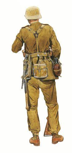 Unteroffizier (Suboficial), Regimiento de Zapadores, África. 1942.