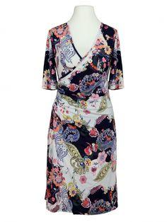 Damen Jerseykleid Blütenprint, multicolor von Tessuto Milano bei www.meinkleidchen.de