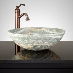 Brunner+Round+Blue+Onyx+Vessel+Sink+