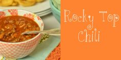 Rocky Top Chili. Great tailgate recipe for #Tennessee #Vols & every SEC fan!
