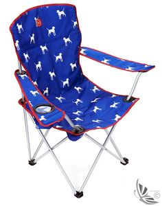 Joules Lightweight Lazy Camping Chair - Blue Dog O_LAZYCHAIR