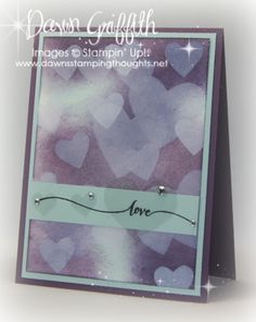 Bokeh Hearts card #1