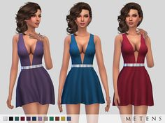 Rowena Dress by Metens at TSR via Sims 4 Updates