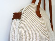 Bag - Round cotton cord  leather