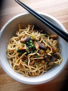 ...Soul Vood kocht & bloggt...: Mie Nudeln mit asiatischen Pilzen