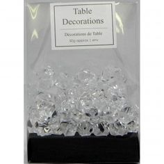Table Decorations Clear Crystals