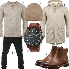 Beige-Braunes Winteroutfit mit Chelsea Boots (m0776) #outfit #style #herrenmode #männermode #fashion #menswear #herren #männer #mode #menstyle #mensfashion #menswear #inspiration #cloth #ootd #herrenoutfit #männeroutfit