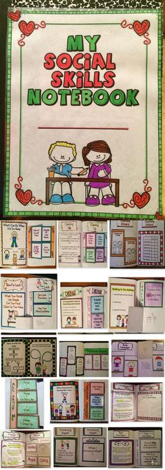 Social Skills Interactive Notebook - This interactive notebook is a great tool to help children learn positive behaviors.  Children will learn about positive self talk, I-messages,   and more! #kids