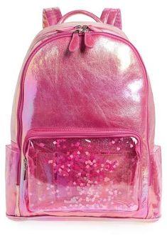 6ff18104fb8c Bari Lynn Heart Confetti Holographic Backpack Pencil Pouch