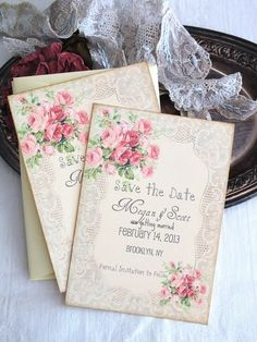 Vintage Romantic Wedding Lace and Roses Save by AVintageObsession, $39.50