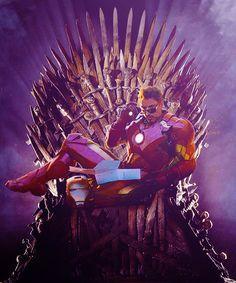 Iron Man sitting on Iron Throne - Google Search