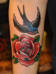 swallow leg tattoo - Google Search