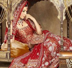 Find here online price details of companies selling Indian Bridal Wear. Get info of suppliers, manufacturers, exporters, traders of Indian Bridal Wear for buying in India. Red Wedding Lehenga, Indian Wedding Sari, Bridal Sari, Indian Bridal Sarees, Indian Bridal Wear, Asian Bridal, Indian Weddings, Punjabi Wedding, Wedding Dresses 2014