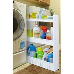 Need this next to the space beside my dryer to hold detergents, bleach, dryer sheet.