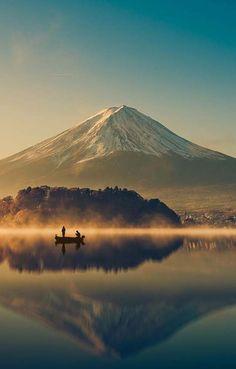 Mount fuji at Lake Sunrise