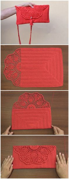 Crochet One Piece Clutch