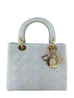 Womens Purses : Christian Dior Cannage Quilted Lambskin Leather Medium Lady Dior Bag Ivory Con - Dior Bag - Ideas of Dior Bag - Womens Purses : Christian Dior Cannage Quilted Lambskin Leather Medium Lady Dior Bag Ivory Con Dior Handbags, Fashion Handbags, Purses And Handbags, Fashion Bags, Dior Bags, Designer Handbags, Leather Handbags, Lady Dior, Christian Dior