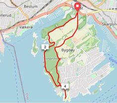 Ukens turtips på sykkel: Runde på Bygdøy via Bygdøy sjøbad, Paradisbukta og Huk Norway, Map, Circuit, Location Map, Maps