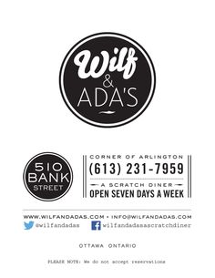 Wilf & Ada's – A Scratch Diner