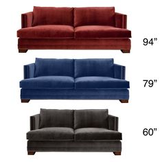 Available with heavy duty spring construction and a high quality velvet, the South Beach Sofa is extremely comfortable and works well with furniture pieces of different styles. The sofa offers fine details and a tailored look for timelessness.