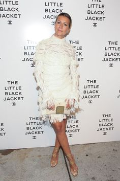 """Natalie Jobs at the Chanel """"Little Black Jacket"""" Exhibit Party"""