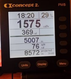 #concept2 #5kclub #5000m #concept2rower #erg #burncalories  #crossfit #indoorrowing #rower #skierg #heartratemonitor #gym #roguefitness #fattofit #hiitworkout #hiit #versaclimber #versa #getfitordietrying #crossfit #weightloss #fitness #pm5 #lxp by markland01