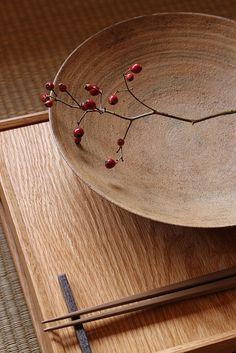 Wooden tray by TAZAWA Yusuke, Japan 田澤祐介