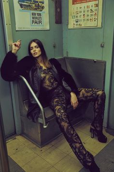 <p>Photographer An Le captured the gorgeous Amanda Welsh in this editorial entitled 'Underground' for Vogue Portugal. In this special, closed to the public NYC train station, An Le, fashio