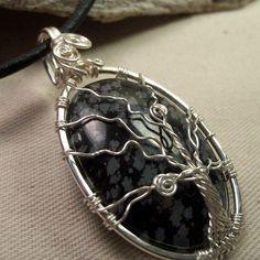 Snowflake Obsidian Tree Setting