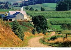 The rolling hills of Holmes County, Ohio