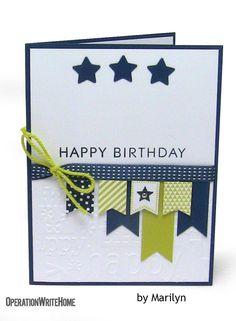 Birthday masculine pennants