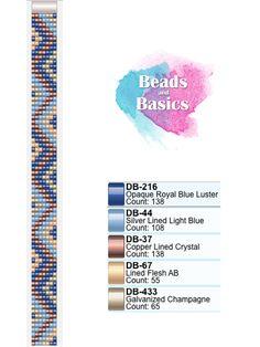 blue miyuki delica beadloom pattern - patronen voor weefarmbandjes