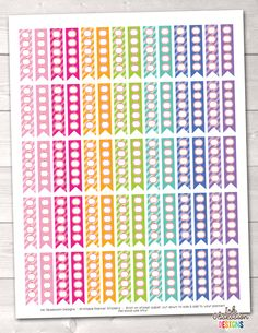 Apple To Do Flags Printable Planner Stickers – Instant Download PDF for your Erin Condren Life Planner