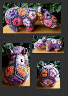 Miss Happypotamus (Pattern by Heidi Bears)