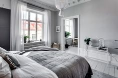 A lovely city apartment with a beautiful bedroom...: Scandinavian Simplicity