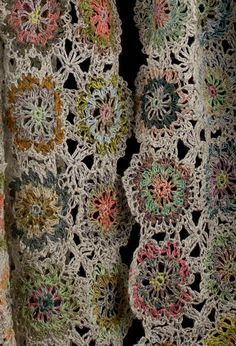 Sophie Digard crochet scarf close-up