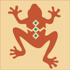 Southwest Frog Stencil | Delightful home decor and crafting stencil from The Artful Stencil! US Shipping in only 5 days. We ship all over the world.