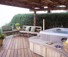 Hot tub idea Deck