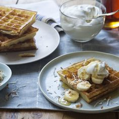 Overnight Belgian Waffles (Makes 10 to 12 large waffles ) Copyright Ina Garten, All Rights Reserved What's For Breakfast, Breakfast Items, Breakfast Dishes, Breakfast Recipes, Mexican Breakfast, Waffle Recipes, Brunch Recipes, Brunch Food, Pancake Recipes